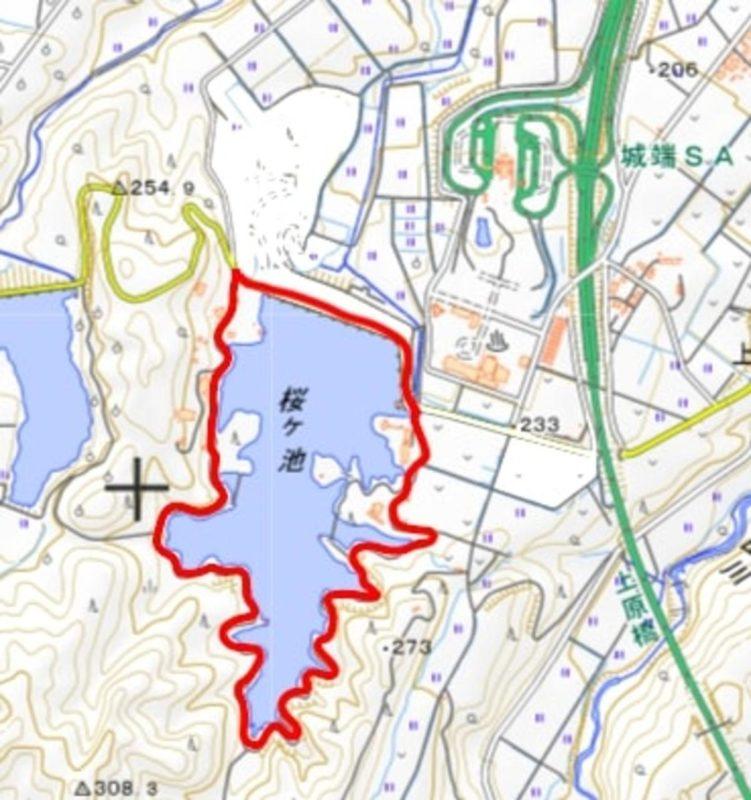 桜ヶ池地図